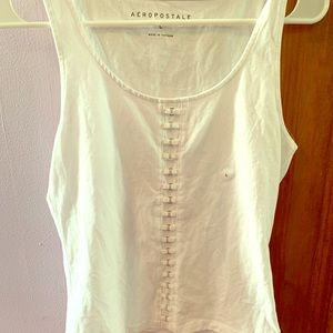 White tank top with middle detail